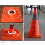 Solar Retractable Traffic Cone