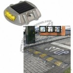 Solar Road Warning Stud with 2 x 3pcs Super Bright LEDs, Aluminum Alloy Body and 20T Load