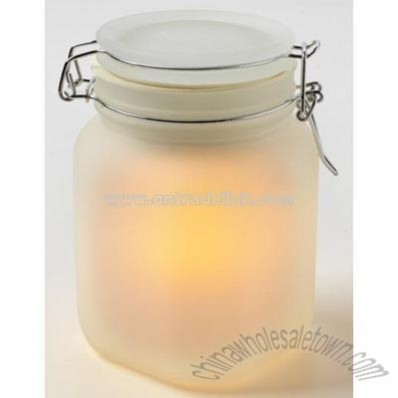 Solar Sun Jar Solar Powered Flameless Candle
