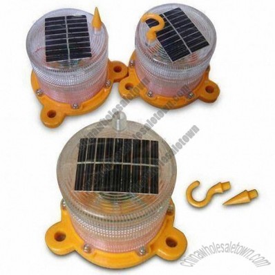 Solar Warning Light with Hook and Bird Spike