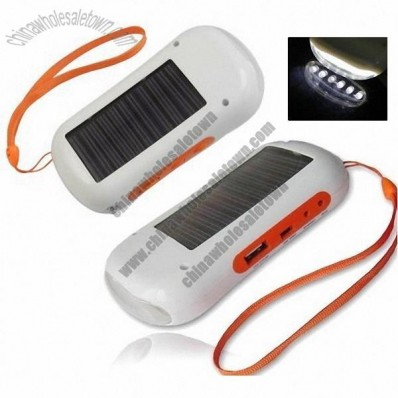 Solar charger Radio flashlight Built-in Rechargeable Battery 1200mah