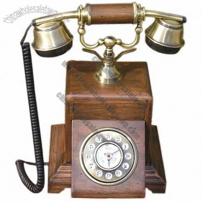 Solid Wood Antique Telephone