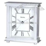 Solid aluminum case clock