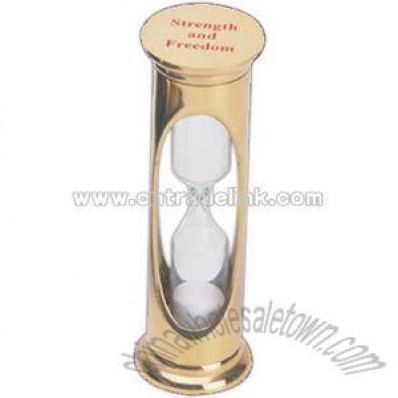 Solid brass 3 minute sand timer