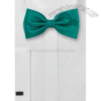 Solid color bow tie in sea-green color