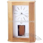 Solid wood case clock