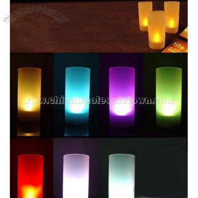 Sound Control Colorful Candle Lights