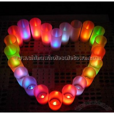 Sound Control Multicolor LED Candle
