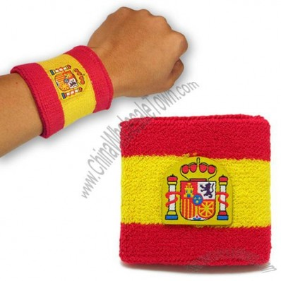 Spain Football Fans Cotton Wristband