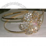 Sparkling Floral Rhinestone Fashion Jewelry