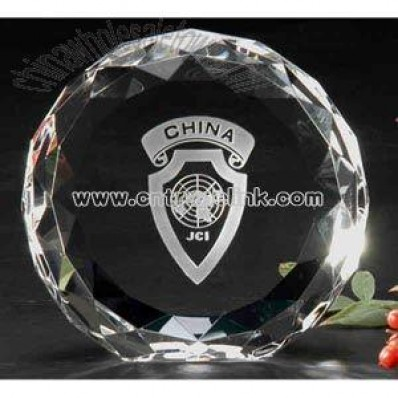 Sphere shape crystal award
