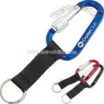 Spinlock carabiner with strap