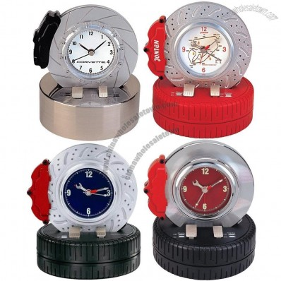 Spinning Brake Disc Alarm Clock, Tyre Clock