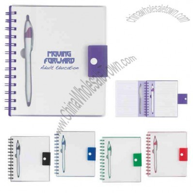 Spiral Notebook With Matching Dart Pen, 100 Pages