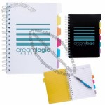 Spiral Notebook with Index Divider Tabs