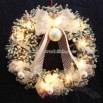 Sponge Optic Fiber Decorative Wreath