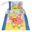 Spongebob Squarepants & Patrick - 3pc Toddler/Crib Comforter-Quilt Bedding Set