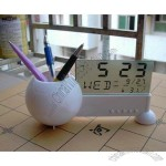 Sport Ball Pen Holder With Calendar Clock