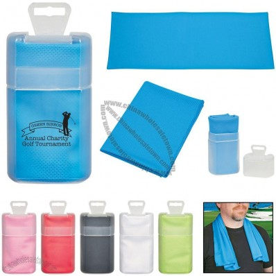 Sport Towel with Plastic Case
