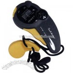 Sport timer stopwatch with compass and whistle on nylon lanyard