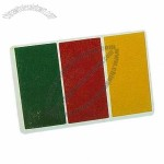 Sports Face Paint Card with National Flag Color