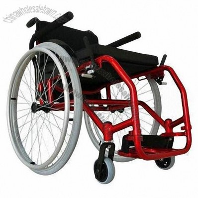 Sports Wheelchair with Aluminum Frame, Foldable, Easy to Carry and Optional Shopping Bag