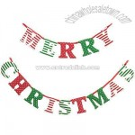 Spot & Stripe Merry Christmas Garland