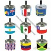 Spring Metal Cigar Ashtray with National Flag