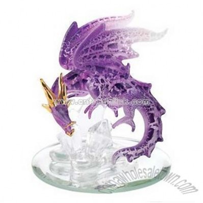 Spun Glass Purple Dragon