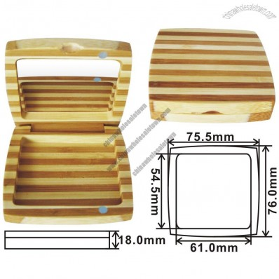 Square Bamboo Eyeshadow Case
