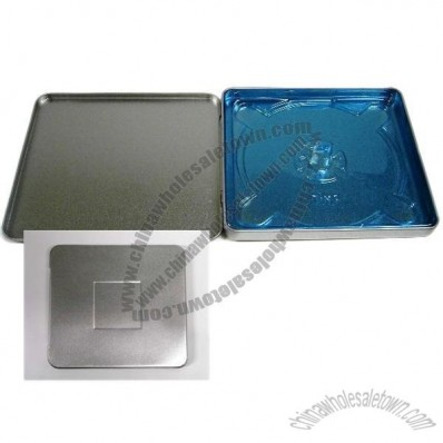 Square CD/DVD Tin with Window