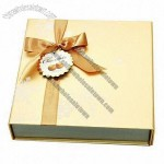 Square Chocolate Champagne Gold Paper Foldable Packaging Box