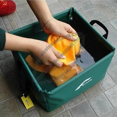 Square Folding Bucket for Outdoor Travel and Camping