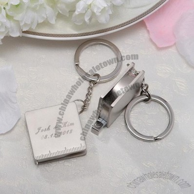 Square Measuring Tape Keychains