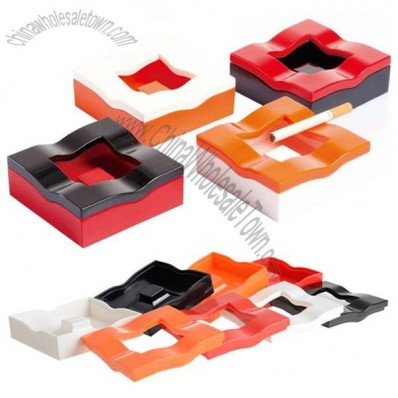 Square Plastic Ashtray