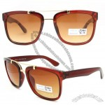 Square Shape Shiny Brown PC Sunglasses