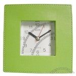 Square Table Leather Clock
