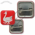 Square Tin Button Badges