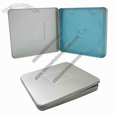 Square Tin CD Case No Window with Indent