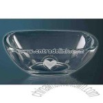 Square crystal bowl