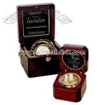 Square rosewood captain clock