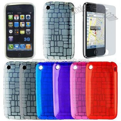 Squares TPU Skin Case for Apple iPhone 3G S/3G