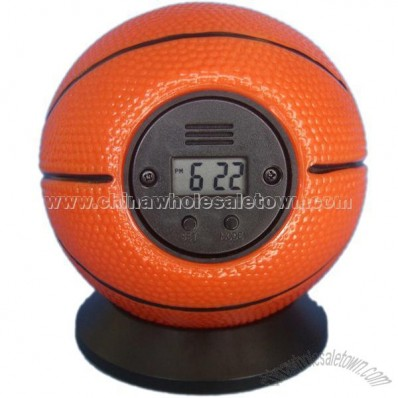 Squeezable Throw It Alarm Clock - Basketball