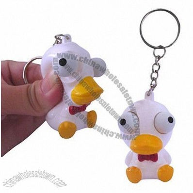 Squeeze Duck Poppin Peepers Toy Keychain