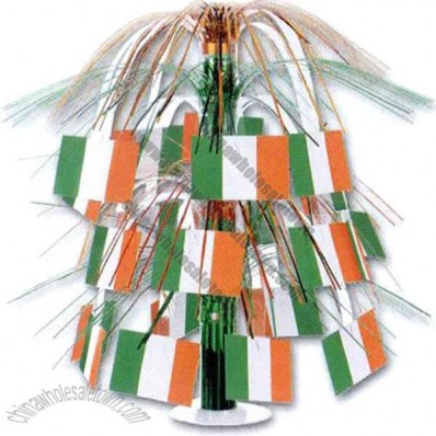 St Patricks Day Irish flag cascade centerpiece, 18