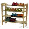 Stackable 4-tier shoe storage rack