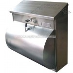 Stainless Mail Box With Hemicycle Holder