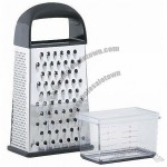Stainless Steel 4sided Grater With Catcher