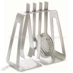 Stainless Steel 5 Peice Bar Set with Ice Tongs