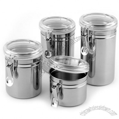 Stainless Steel Airtight Canisters Set